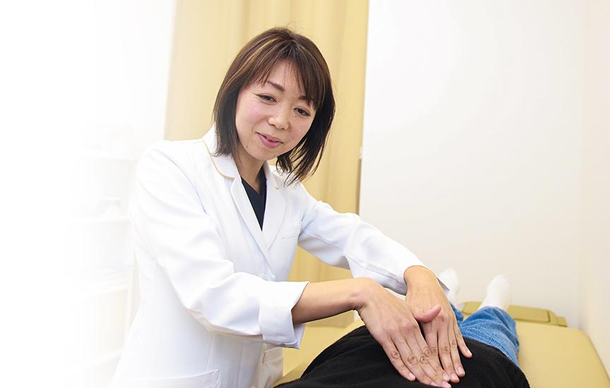 女性医師が優しく丁寧に診察します